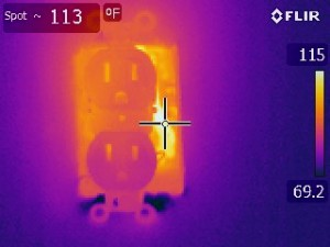 We use thermal imaging to help determine if there are over heated wiring.